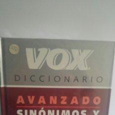 Diccionarios: DICCIONARIO AVANZADO VOX SINONIMOS Y ANTONIMOS. Lote 88995699