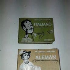 Diccionarios: DICCIONARIO UNIVERSAL ALEMAN-ESPAÑOL /ESPAÑOL-ALEMAN E ITALIANOHERDER. 1973. MIDE: 8,3 X 10,8 CMS. Lote 85040198