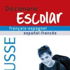 Diccionarios: DICCIONARIO ESCOLAR FRANÇAIS-ESPAGNOL / ESPAÑOL-FRANCÉS LAROUSSE EDITORIAL, S.A.. Lote 91308323