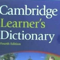 Diccionarios: CAMBRIDGE LEARNER'S DICTIONARY [WITH CDROM] CAMBRIDGE UNIV PR. Lote 92753638