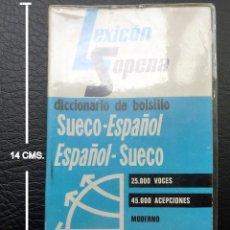 Diccionarios: DICCIONARIO ESP.-SUECO Y SUECO-ESP. DE BOLSILLO. Lote 94975515