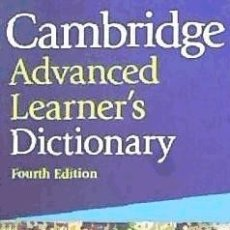 Diccionarios: CAMBRIDGE ADVANCED LEARNER'S DICTIONARY WITH CD-ROM CAMBRIDGE UNIV ELT. Lote 95318132