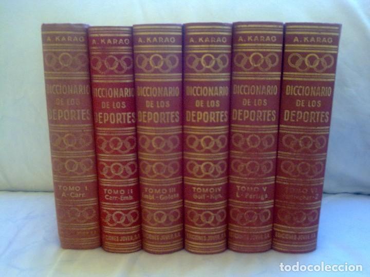 DICCIONARIO DE LOS DEPORTES 6 TOMOS (ACISCLO KARAG) (Libros Nuevos - Diccionarios y Enciclopedias - Diccionarios)