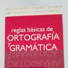 Diccionarios: REGLAS BÁSICAS DE LA ORTOGRAFÍA Y GRAMÁTICA. Lote 105336179