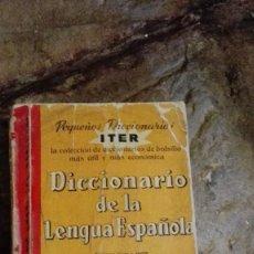 Diccionarios: DICCIONARIOS ITER, 1968, DICCIONARIO ILUSTRADO DE LA LENGUA ESPAÑOLA.. Lote 112322139