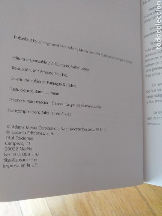 Diccionarios: El libro de los nombres para tu bebé.Tikal.Misa Shaw.Susaeta.Impreso EEUU - Foto 10 - 112394512
