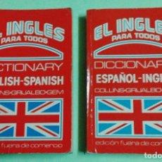Diccionarios: EL INGLES PARA TODOS - DICCIONARIO / DICTIONARY - 2 MINI VOL - BOLSILLO VIAJE - ED DELTA -AÑO 1981. Lote 113321387