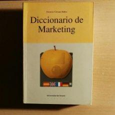 Diccionarios: DICCIONARIO DE MARKETING. Lote 106051740