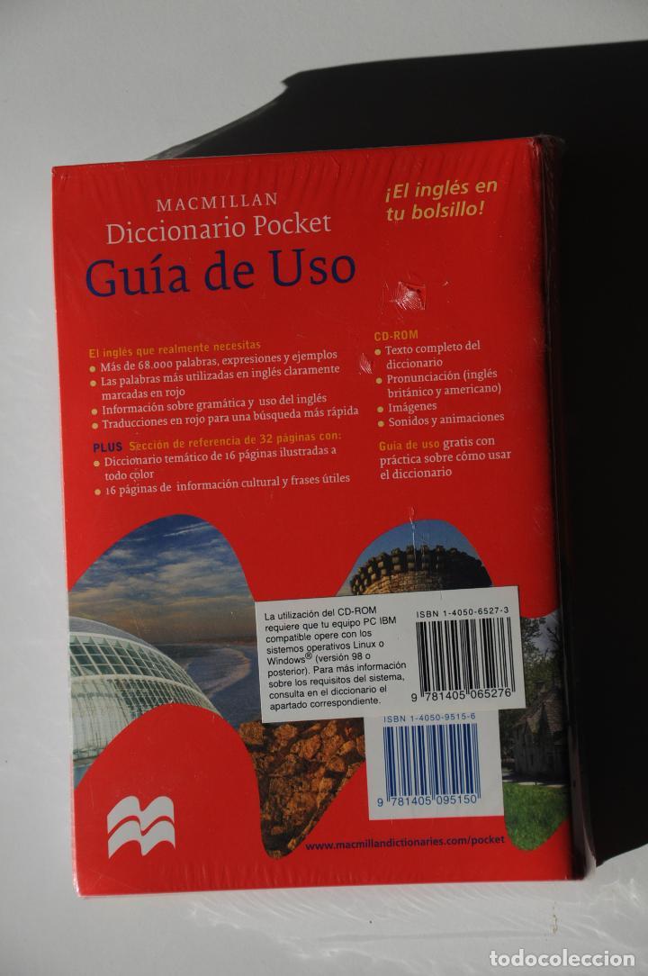 Diccionarios: DICCIONARIO BOLSILLO POCKET MACMILLAN ESPAÑOL INGLES CON CD ROM. NUEVO Y PRECINTADO. - Foto 3 - 116244831
