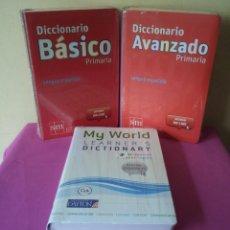 Diccionarios: DICCIONARIO DE PRIMARIA LENGUA ESPAÑOLA - BASICO, AVANZADO Y MY WORLD LEARNER'S - EDICIONES SM 2012. Lote 117652443