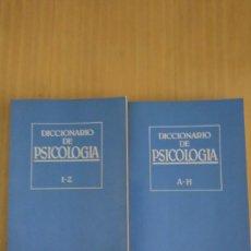 Diccionarios: DICCIONARIO DE PSICOLOGÍA - 2 TOMOS. Lote 118710135