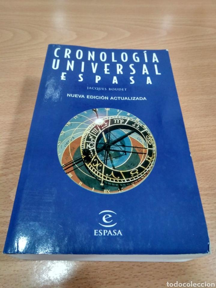 CRONOLOGÍA UNIVERSAL ESPASA -JACQUES ROUDET- (Libros Nuevos - Diccionarios y Enciclopedias - Diccionarios)