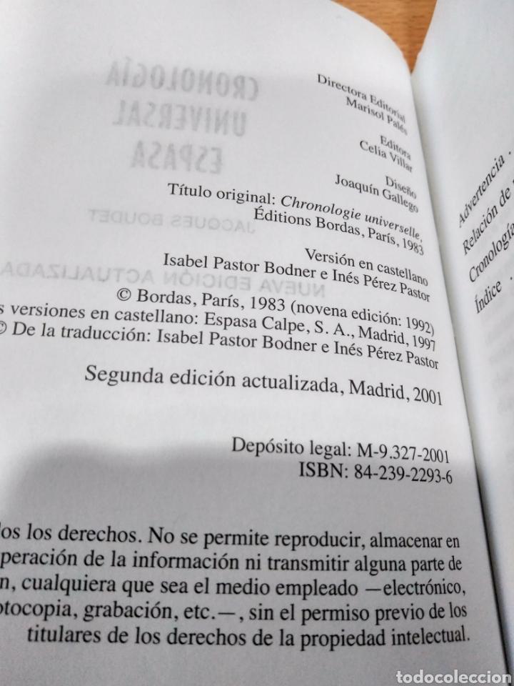 Diccionarios: Cronología universal espasa -jacques roudet- - Foto 5 - 124144454