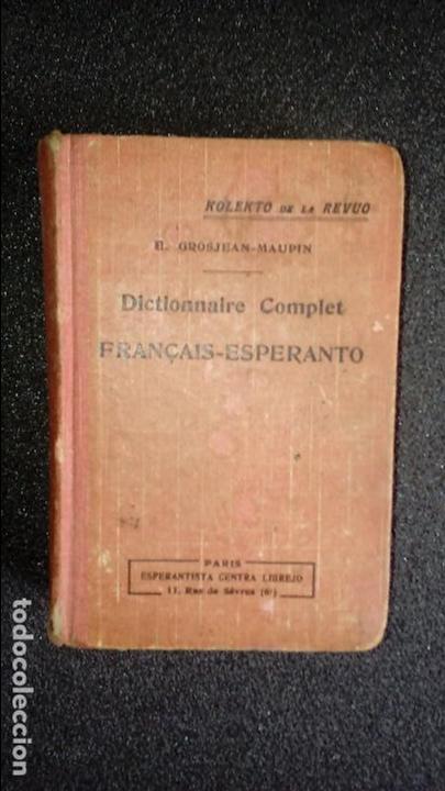 ESPERANTO. LENGUA UNIVERSAL. LITERATURA ESPERANTISTA. DICCIONARIO DE ESPERANTO. (Libros Nuevos - Diccionarios y Enciclopedias - Diccionarios)