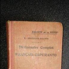 Diccionarios: ESPERANTO. LENGUA UNIVERSAL. LITERATURA ESPERANTISTA. DICCIONARIO DE ESPERANTO.. Lote 127085887