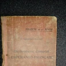 Diccionarios: ESPERANTO. LENGUA UNIVERSAL. LITERATURA ESPERANTISTA. DICCIONARIO ESPERANTISTA.. Lote 127088907