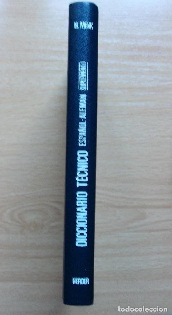 Diccionarios: TECHNISCHES FACHWÖRTERBUCH. NACHTRAG ZU BAND II. SPANISCH - DEUTSCH. H. MINK. VDI. 1980 - Foto 4 - 127668795
