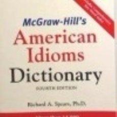 Diccionarios: AMERICAN IDIOMS DICTIONARY. Lote 71014358