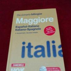 Diccionarios: DICCIONARIO ITALIANO-ESPAÑOL CON DISCO. Lote 132375827