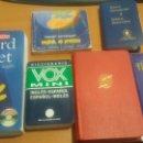 Diccionarios: LOTE 3 DICCIONARIOS INGLES ESPAÑOL 1 FRANCÉS 1 NUEVO TESTAMENTO Y DE SALMOS. Lote 132720842