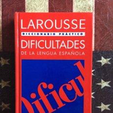 Diccionarios: DIFICULTADES DE LA LENGUA. Lote 142942385