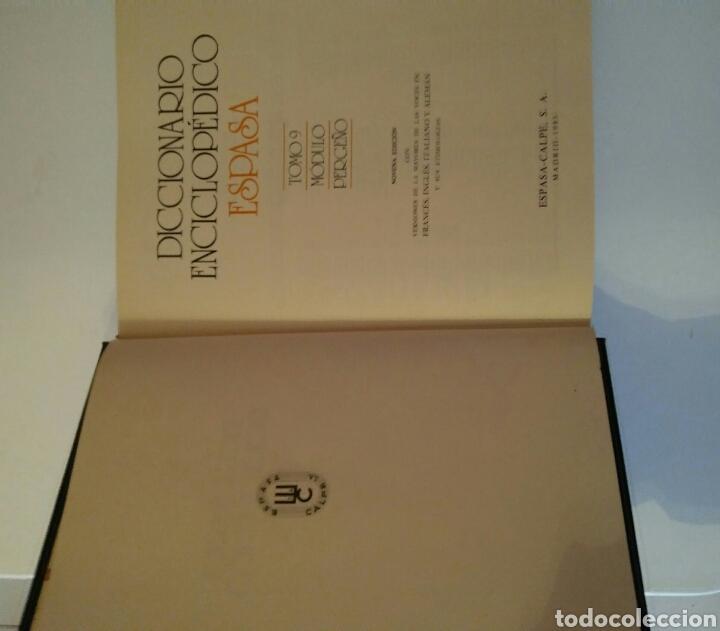 Diccionarios: Diccionario enciclopédico espasa tomo 9 módulo PERGEÑO AÑO 1985 - Foto 5 - 143381032