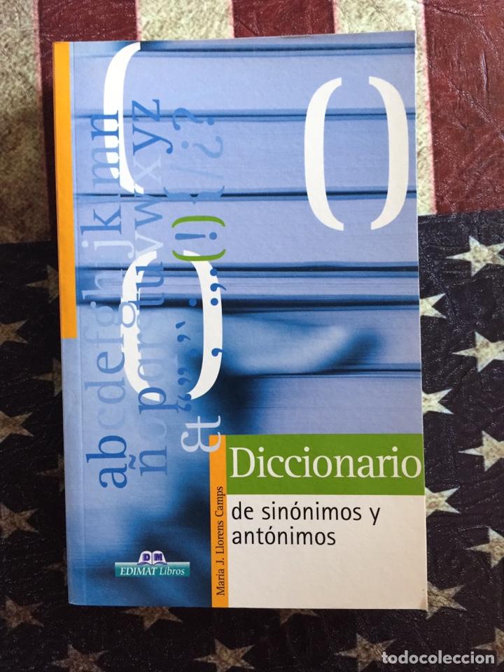 DICCIONARIO DE SINÓNIMOS Y ANTÓNIMOS (Libros Nuevos - Diccionarios y Enciclopedias - Diccionarios)