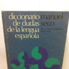 Diccionarios: STQ.MANUEL SECO.DICCIONARIO DE DUDAS Y DIFICULTADES DE LA LENGUA ESPAÑOLA.EDT, .BRUMART TU LIBRERIA.. Lote 145943254