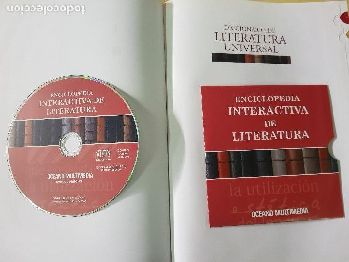 Diccionarios: DICCIONARIO DE LITERATURA UNIVERSAL - ED.OCEANO + CD - AÑO 1984 (ILUST) - Foto 3 - 213675082