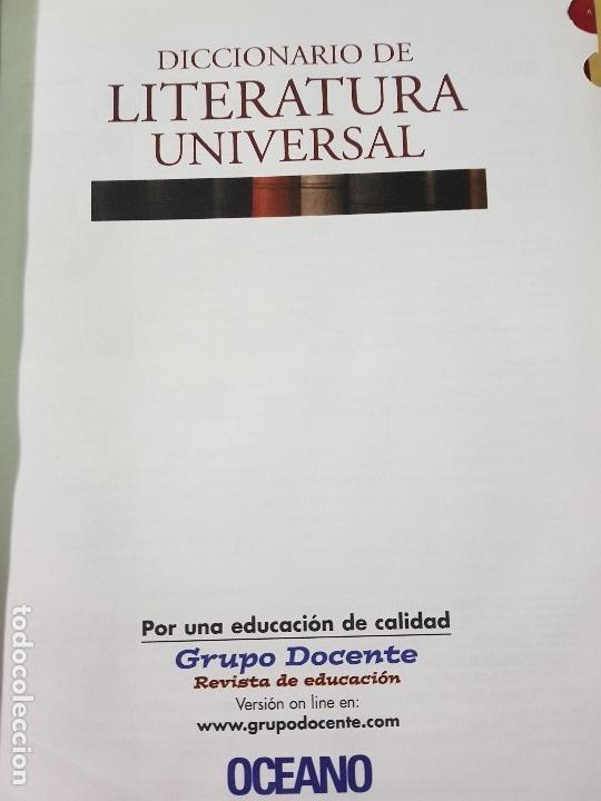 Diccionarios: DICCIONARIO DE LITERATURA UNIVERSAL - ED.OCEANO + CD - AÑO 1984 (ILUST) - Foto 4 - 213675082