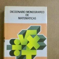 Diccionarios: DICCIONARIO MONOGRÁFICO DE MATEMÁTICAS. VOX BIBLIOGRAF. NUEVO. Lote 151963378