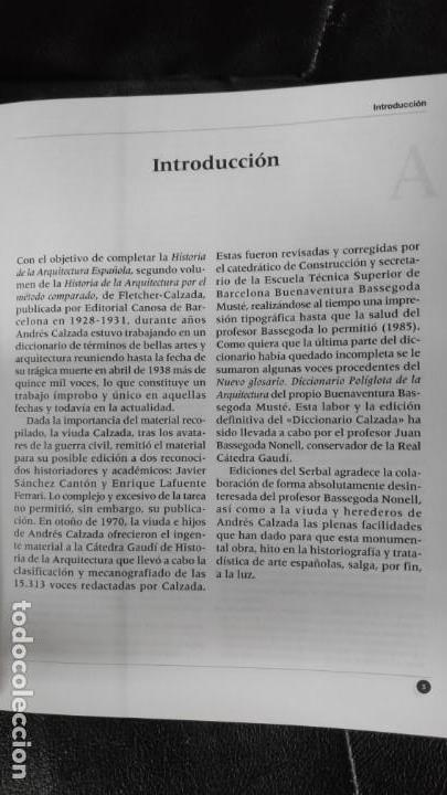 Diccionarios: DICCIONARIO CLASICO DE ARQUITECTURA Y BELLAS ARTES ( ANDRES CALZADA ECHEVARRIA ) - Foto 8 - 183675113