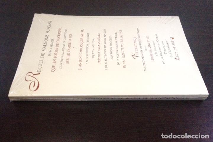 Diccionarios: RECULL DE MALNOMS SUECANS. ESTHER MOLINA POS. J. ANTONI CARRASQUER ARTAL. 2003. TOTS DE SUECA. - Foto 3 - 160315220