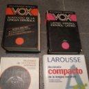 Diccionarios: LOTE DICCIONARIOS VOX, SOPENA, LAROUSSE. Lote 160872273