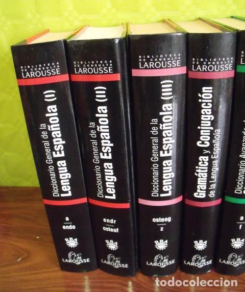 Diccionarios: Libros Biblioteca de Consulta Larousse - RBA - 10 TOMOS - Foto 2 - 162166162