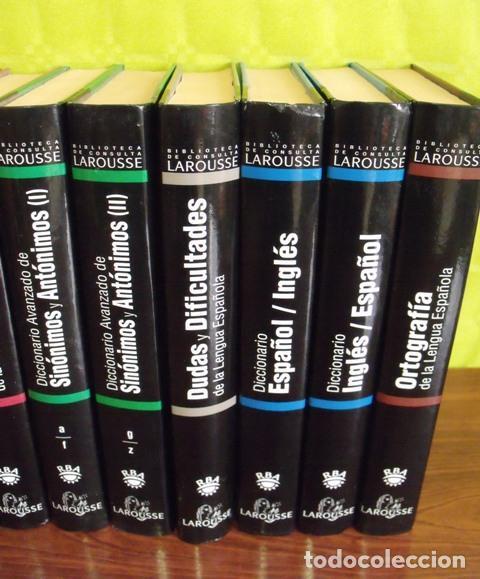 Diccionarios: Libros Biblioteca de Consulta Larousse - RBA - 10 TOMOS - Foto 3 - 162166162