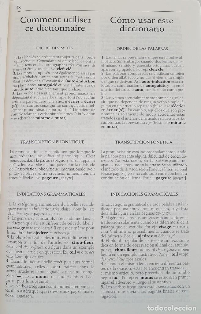 Diccionarios: LOTE DE 2 DICCIONARIOS FRANCÉS E INGLÉS ; LAROUSSE Y COLINS UNIVERSAL . AMBOS TAPAS DURAS - Foto 7 - 162477994