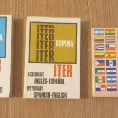 Diccionarios: 3 DICCIONARIO ITER SOPENA. Lote 176378145