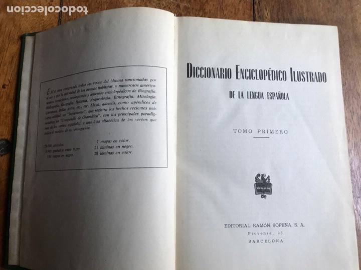 Diccionarios: Diccionario Enciclopédico Ilustrado . Ramon Sopena 1962 - Foto 2 - 177945810