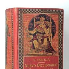 Diccionarios: NUEVO DICCIONARIO MANUAL ILUSTRADO DE LA LENGUA CASTELLANA / CALLEJA 1914 / EDICIÓN LUJO/ ILUSTRADO. Lote 178677575