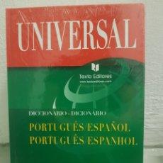 Diccionarios: UNIVERSAL. TEXTO ESCRITORES. DICCIONARIO PORTUGUÉS - ESPAÑOL. Lote 179196376