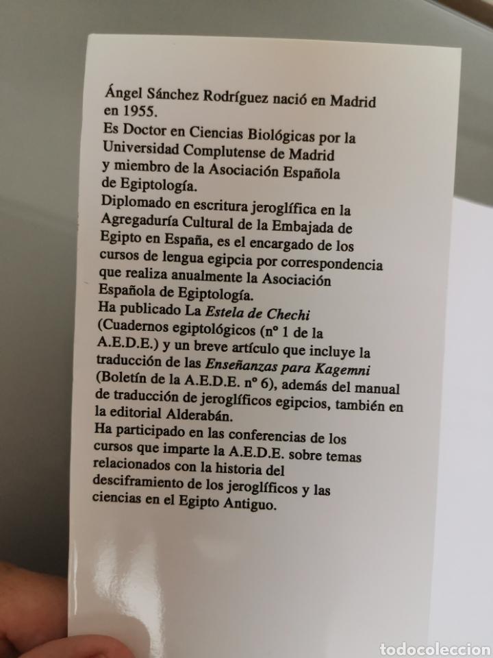 Diccionarios: DICCIONARIO JEROGLÍFICOS EGIPCIOS ED. ALDERABAN 608 pag ANGEL SÁNCHEZ 2008 - Foto 6 - 179203892