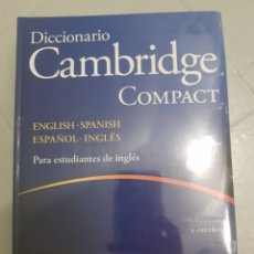 Diccionarios: ENVIO GRATIS. CAMBRIDGE COMPACT. INGLÉS - ESPAÑOL. ESPAÑOL - INGLÉS. Lote 179605986