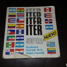 Diccionarios: DICCIONARIO ILUSTRADO DE LA LENGUA ESPAÑOLA ITER SOPENA. Lote 180134372