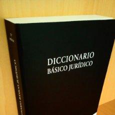 Diccionarios: DICCIONARIO BÁSICO JURIDICO. Lote 182377081