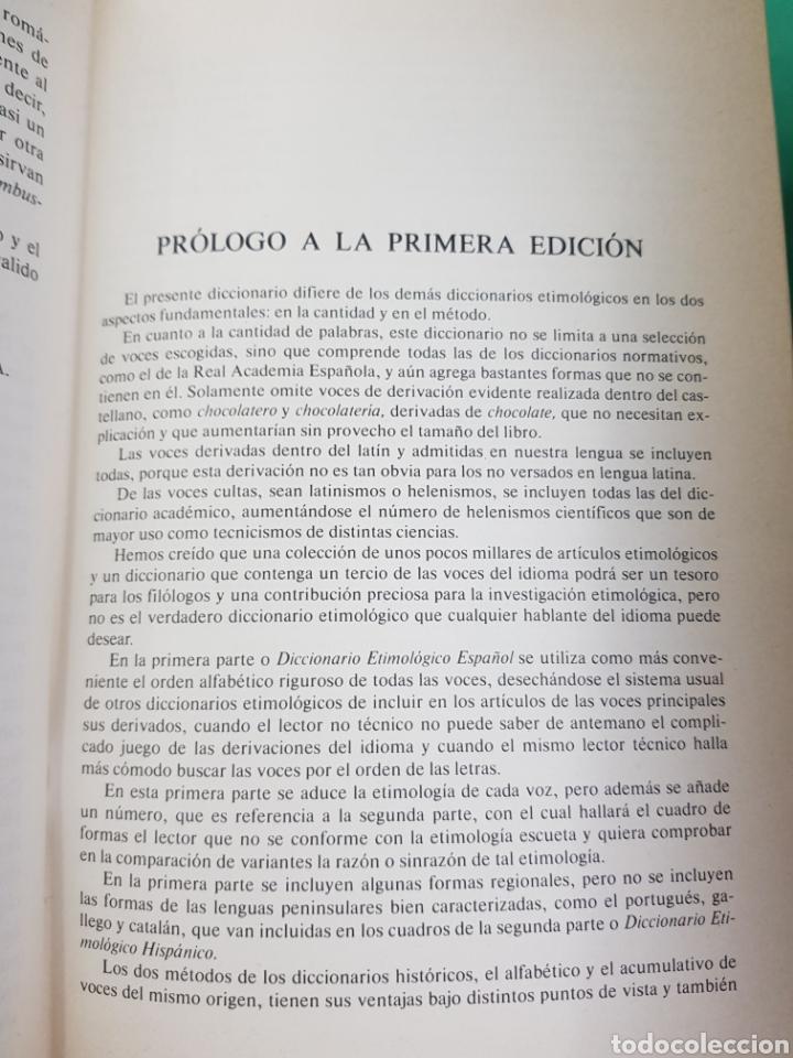 Diccionarios: Diccionario Etimológico , Espasa-Calpe, 1985 , segunda Edición - Foto 4 - 183061951