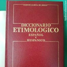 Diccionarios: DICCIONARIO ETIMOLÓGICO , ESPASA-CALPE, 1985 , SEGUNDA EDICIÓN. Lote 183061951