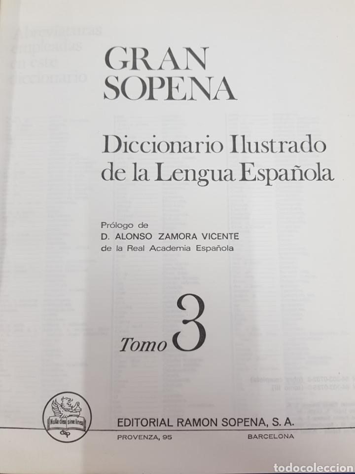 Diccionarios: Gran Sopena ,Diccionario Ilustrado de la Lengua , colección completa 3 tomos - Foto 3 - 183064461