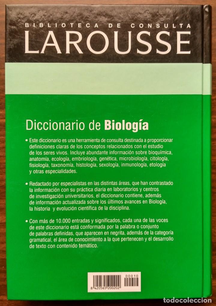 Diccionarios: DICCIONARIO DE BIOLOGIA. - Foto 4 - 187090067
