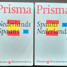 Diccionarios: NEDERLANDS - SPAANS / SPAANS - NEDERLAND. PRISMA.. Lote 187168226
